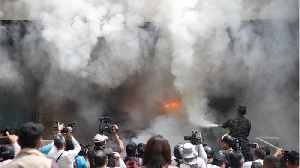 US Embassy In Honduras Set Ablaze During Protests [Video]