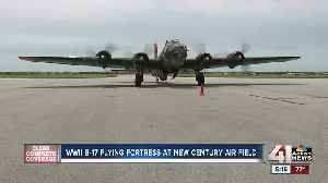 WWII B-17 Flying Fortress at New Century Air Field [Video]