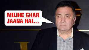 Rishi Kapoor CRIES In Public Wants To Get Home From New York [Video]