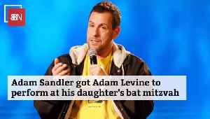 Adam Sandler Gives His Daughter A Great Bat Mitzvah [Video]