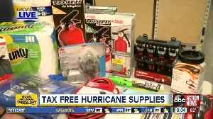 Hurricane season is here: You can get these supplies tax free [Video]
