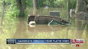 Causeways Removed From Platte River [Video]