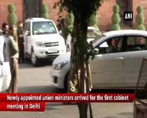 Rajnath Singh Amit Shah Sitharaman arrive for cabinet meeting [Video]