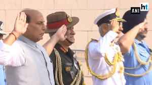 Rajnath Singh visits War Memorial before taking over Defence Ministry [Video]