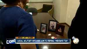 Local military spouses trying to get 'widow's tax' repealed [Video]