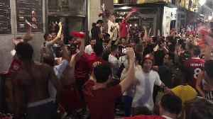 Liverpool fans go wild on the streets of Madrid after Champions League victory [Video]