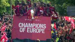 Liverpool fans gather for Champions League victory parade [Video]
