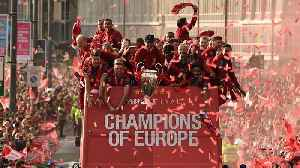 News video: Liverpool Celebrates Sixth Champions League Title With Parade