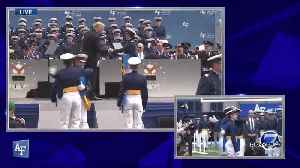 President Trump shakes the hand of every cadet graduating from the Air Force Academy [Video]