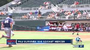FAU Baseball defeats Mercer to stay alive in the NCAA tournament [Video]