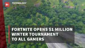Fortnite Sets 100 Million Aside For Game Tournaments [Video]