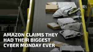 First The Biggest Black Friday And Now Biggest Monday At Amazon [Video]