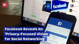 Facebook Reveals New Privacy Strategy [Video]