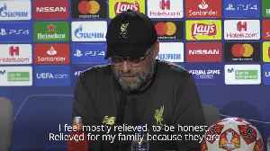 Klopp tells of his 'relief' after Champions League win [Video]