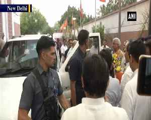 Amit Shah arrives at BJP HQ after assuming charge of Home Ministry [Video]
