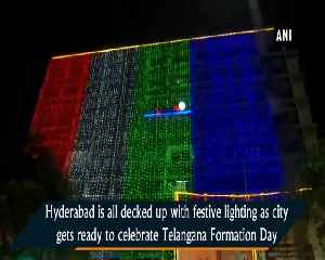 News video: Hyderabad decked up to mark Telangana Formation Day