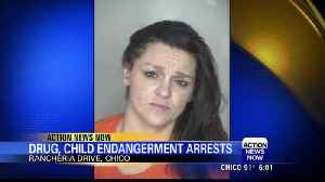 Two arrested on drug sales and child endangerment charges in Chico [Video]