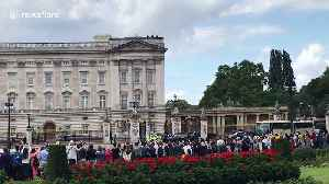US President Donald Trump arrives for Queen's reception at Buckingham Palace [Video]
