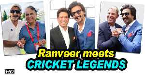 Ranveer meets Tendulkar, Gavaskar and other cricket legends [Video]