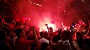 Liverpool fans in Greece celebrate wildly after Champions League [Video]