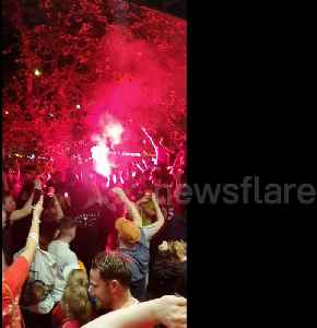 Liverpool parties long into the night after Champions League win [Video]
