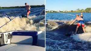 Go With The Flow; Man Steals Wakeboarder's Wave [Video]
