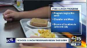 School lunch programs begin this week [Video]