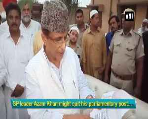 Thinking of quitting parliamentary post and contesting state elections Azam Khan [Video]