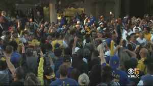 Fans Celebrate Warriors' Game 2 Win At Oracle Arena Watch Party [Video]