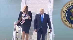 Trump Arrives At Stansted Airport For UK State Visit [Video]