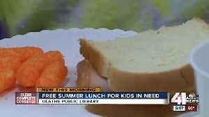 Olathe Public Library provides kids free lunch during summer months [Video]