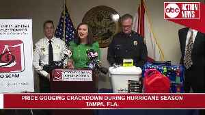 Florida AG, Tampa Bay law enforcement to crack down on price gouging   Press Conference [Video]