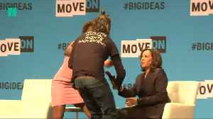 Mic Snatched From Kamala [Video]