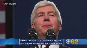 Mobile Devices Of Ex-Governor Snyder, Other Michigan Officials Seized In Flint Water Probe [Video]