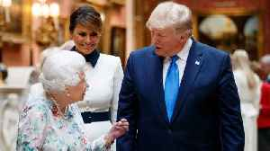 Kate Middleton And The Queen Wear White At Banquet Trump [Video]