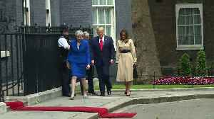 President Trump arrives at Downing Street [Video]
