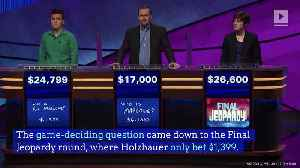 James Holzhauer's 'Jeopardy!' Run Is Finally Over [Video]