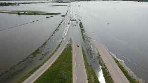 Flooded Missouri River Closes Highways in Crescent, Iowa [Video]