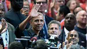 Obama Attends NBA Finals Game In Toronto [Video]