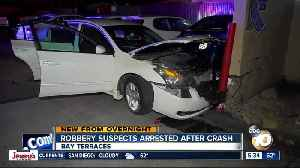 Pair arrested after chase ends in crash in Bay Terraces [Video]