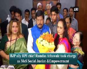 News video: Ramdas Athawale takes charge as Union MoS for Social Justice and Empowerment