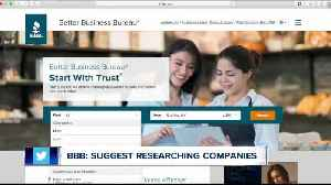 BBB: Suggest consumers should research businesses [Video]