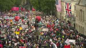 News video: Protesters rally against Trump in London