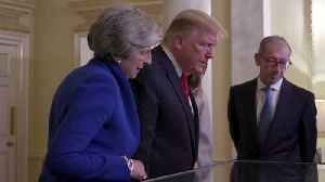 News video: US President Donald Trump views rare document inside Downing Street