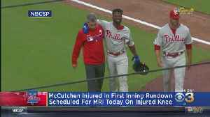 Mccutchen To Have MRI Tuesday After Suffering Knee Injury During Game Against Padres [Video]