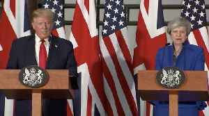 Donald Trump Responds To Jeremy Corbyn In Press Conference With PM [Video]