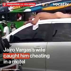 Woman Publicly Shames her Unfaithful Husband by Parading him Naked on the Roof of Car in Colombia [Video]