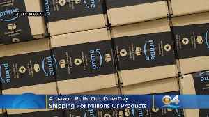 Amazon Rolls Out One-Day Shipping For Millions Of Products [Video]
