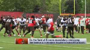 Odell Beckham Jr. catches deep sideline pass from Baker Mayfield at Cleveland Browns minicamp [Video]