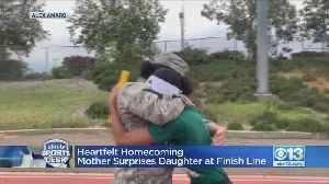 Heartfelt Homecoming: Mother Surprises Daughter At Finish Line [Video]